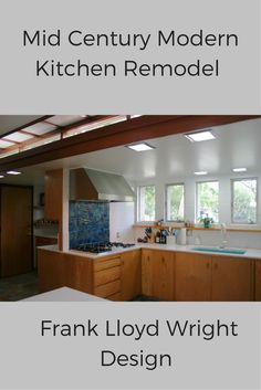 See how this mid century modern (Frank Lloyd Wright  design) kitchen embraced it's architectural heritage - yet included new products to improve this kitchen design - http://blog.innovatebuildingsolutions.com/2015/03/07/mid-century-modern-home-reinvigorated-passion-architectural-integrity/