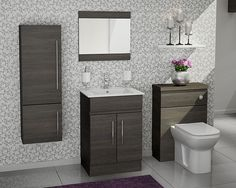 Pure - The classic style of the vanity unit is so elegant, and the deep basin has useful storage on either side.