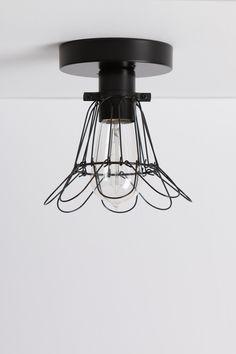 Black Cage Ceiling Light