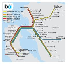 BART - Bay Area Rapid Transit - servicing San Francisco, Oakland and surrounding communities