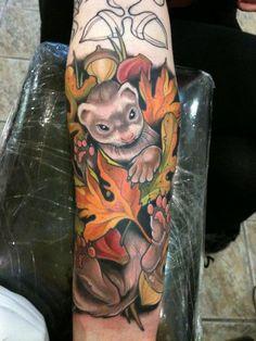 ferret tattoo autumn tattoo typography tattoos creative tattoos inked ...