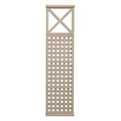 Yardistry 3 in. x 20 in. x 6.45 ft. Four High Lattice X Insert Panel-YM11564 at The Home Depot