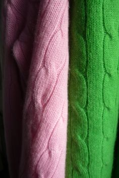wool cable knit sweaters -- I had a monogrammed kelly green one from L.L. Bean when I was in high school...  still love them