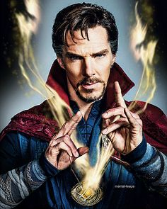 Get a glimpse of the future Sorcerer Supreme's (Benedict Cumberbatch) martial arts training while studying under the Ancient One (Tilda Swinton) at Kamar-Taj in this new TV spot for Doctor Strange. Marvel Art, Marvel Dc Comics, Marvel Heroes, Marvel Characters, Marvel Movies, Marvel Avengers, Illuminati, Dr Strange Costume, Sherlock