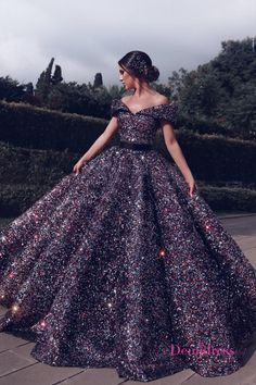 Bling Sequins Ball Gown Prom Dress,Off the Shoulder V Neck Gorgeous Formal Evening Dresses,Long Party on Storenvy Long Party Gowns, Ball Gowns Prom, Ball Dresses, Ball Gowns Evening, Pageant Gowns, Sweet 16 Dresses, Pretty Dresses, Beautiful Dresses, Beautiful Shoes