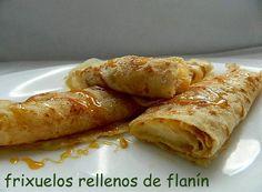 las recetas de mi abuela: FRIXUELOS RELLENOS DE FLANÍN