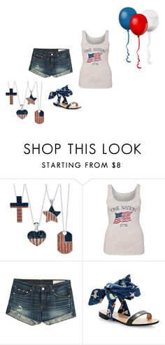 """""""4th of July"""" by sup-16 on Polyvore featuring rag & bone and MSGM"""