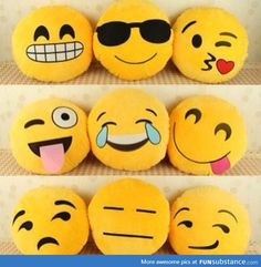 Emoticushions!