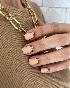 Sparkle Nails, Fancy Nails, Gold Nails, Cute Nails, Stylish Nails, Trendy Nails, Nail Design Stiletto, Modern Nails, Nails Only