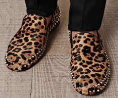 Christian Louboutin Charlie Leopard Pony Loafers