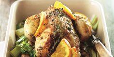 Boodschappen - Hele kip met sinaasappel, honing en tijm