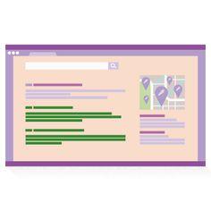 Pagina dei risultati di ricerca con i risultati in basso a sinistra evidenziati.