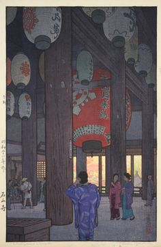 Ishiyama Temple - Toshi YOSHIDA | Davidson Galleries | Antique Modern Contemporary Works On Paper