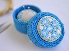 いいね!718件、コメント17件 ― @yula_handmade_2008のInstagramアカウント: 「* . ネモフィラの裁縫道具箱 . .…」