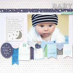 Pebbles Layout Special Delivery Boy @Pebbles Smith Inc. #babyboy