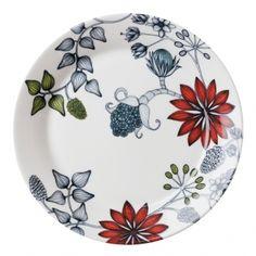 Runo lautanen 26 cm, Kesäsäde        Valmistaja: Arabia      Design: Heini Riitahuhta