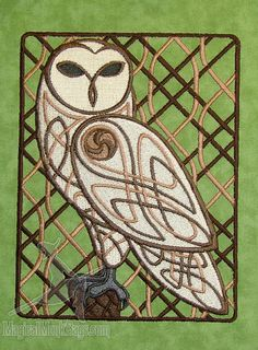 Celtic Knotwork Owl C6116  Woodland Owl by magicalmonk on Etsy, $25.00