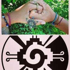 Hunabku - the Mayan symbol for the center of the Milky Way Galaxy. You can see the influence of this Sacred geometry in many of our pieces representing unity. Mayan Symbols, Flower Of Life, Milky Way, Yin Yang, Sacred Geometry, Unity, Hands, Photo And Video, Flowers