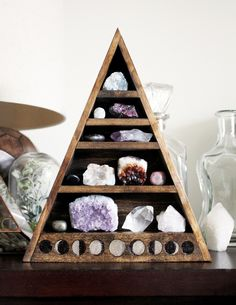 Add some pretty + peaceful crystals to your favorite space to create a zen oasis.