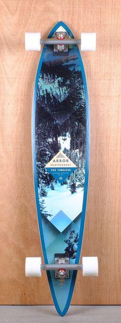"Arbor 46"" Timeless Pin Walnut Longboard Complete Bottom"