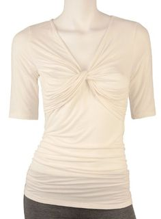 Misses AGB Knot Front Ruched Top for only $24.99 You save: $13.01 (34%)
