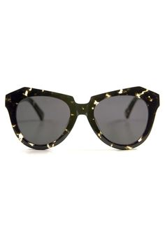 karen walker sunglasses, number one black vintage demi/tortoise $180