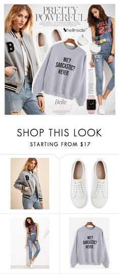 """""""Casual style"""" by vanjazivadinovic ❤ liked on Polyvore featuring Mint Velvet, Victoria Beckham, Sheinside and polyvoreeditorial"""