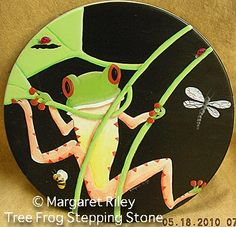 The Decorative Painting Store: Tree Frog Stepping Stone ePattern ...