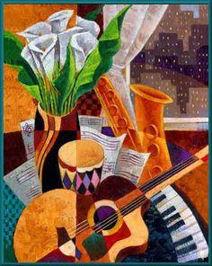 """""""Jazz still life"""" by Keith Mallett."""