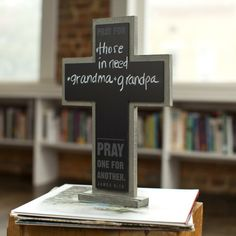 Wooden Chalkboard Crosses - DaySpring - featured on womanlywoman.com