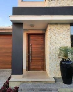 Layouts Casa, House Layouts, Modern Entrance Door, House Entrance, House Outside Design, House Front Design, Main Door Design, Entrance Design, African House