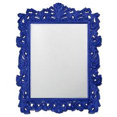 "Howard Elliott Napoleon Glossy Royal Blue Mirror 63"" x 85"" x 2"""