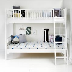 Bunk bed 90x200 cm, white - Kids | Oliver Furniture