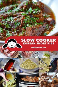 This slow cooker Korean Short Ribs dish is pretty much a dump-it-in-and-forget-about-it kind of dish. Good things it's also Whole30-friendly and delicious! #paleo #crockpot #slowcooker #nomnompaleo #whole30 #glutenfree Paleo Crockpot Recipes, Rib Recipes, Whole 30 Recipes, Cooker Recipes, Healthy Recipes, Asian Recipes, Asian Desserts, Dinner Recipes, Recipes