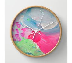 Turn your children's art into designer clocks! - available via DTLL.