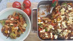 Eiwitrijke Bolognese pasta uit de oven