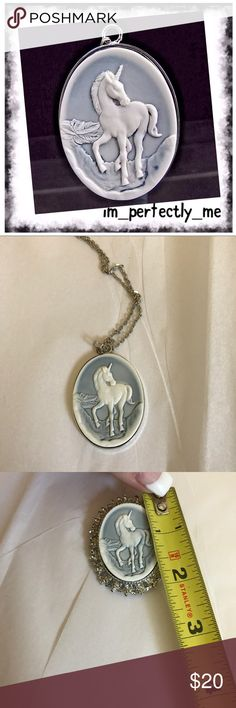 UNICORN NECKLACE Super cool lightweight metal necklace w resin unicorn Nwot. Pic one enlarged to show detail. See other pics for sizing please. Jewelry Necklaces
