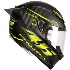 Rossi's signature fluro yellow and an amazing matt carbon finish...stunning. http://www.firecrestmoto.co.uk/motorcycle-brands/agv-helmets/agv-pista-gpr.html http://www.firecrestmoto.co.uk/agv-pista-gp-r-rossi-project-46.html
