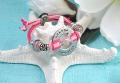 Hakuna Ma-Tatas // Hand Stamped Adjustable Washer Bracelet // October, Breast Cancer Awareness Month