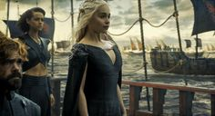Daenerys sails to Westeros with the Greyjoy, Dornish, Meereenese and Tyrell fleets