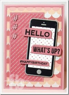 Hi everyone, My card today is a card I created a few weeks ago to give to my daughter for her birthday. 16th Birthday Card, Girl Birthday Cards, Teenager Birthday, Teen Birthday, Homemade Birthday Cards, Homemade Cards, Card Making Inspiration, Making Ideas, Pink Cards