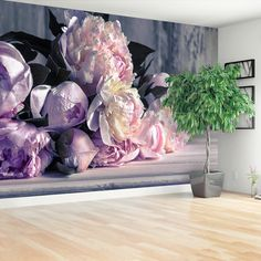 Peonies Bouquet traditional paste & glue or removable wallpaper Wallpaper Wall, Photo Wallpaper, Solid Surface, Washable Paint, Peonies Bouquet, All The Colors, Wall Murals, Decoration, Wall Decor