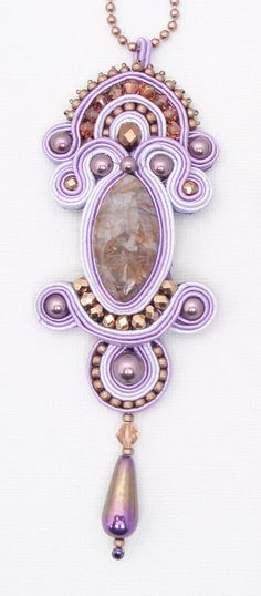 PDF Tutorial - Soutache Embroidery - Lady Mary's Pendant - Instructions ONLY. $20.00, via Etsy.