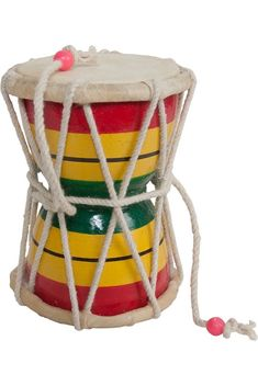 Damroo, also know as Monkey talking drum. Hand held, twisting the wrist vigorously causes the knot at the end of the string to beat the two ends of the drum. Great sound, lots of fun. w x 6 h. Size and colors vary. Vedic Astrology, It Network, Drums, Two By Two, Horoscopes, Musical Instruments, Cosmic, Wealth, Watercolor Paintings