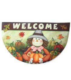 Welcome Scarecrow Door Mat