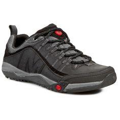 Zapatos Merrell Helixer distort en color negpo para hombre. Puedes ver más modelos de calzado y material de montaña en nuestras tiendas de la comarca de Pamplona, en Villava, C/ Ezkaba 7 y Burlada C/ Merindad de sangüesa 1.
