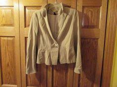 TAN COLORED WOMEN'S JACKET, SIZE 6 #Unbranded #BasicJacket.  eBay item number:131758121773