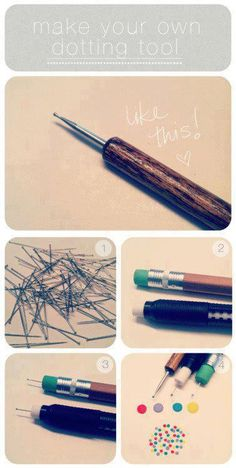 Great idea for an easy do it yourself dotting tool