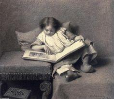 Eastman Johnson  13 de fev Mais The Picture Book, 1855 Reading Art, Girl Reading, Children Reading, Canvas Art, Canvas Prints, Art Prints, People Reading, Pop Art, Art Brut