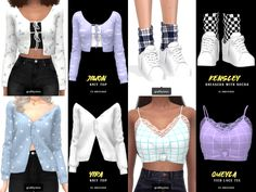 { grafity } — Includes 4 items: Jiwon Knit Top - Sims 4 Updates -♦- Sims 4 Finds & Sims 4 Must Haves -♦-
